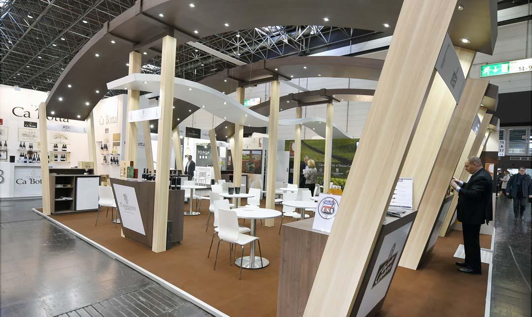 conception du Stand Grandi Vini 76m2 pour le salon Prowein