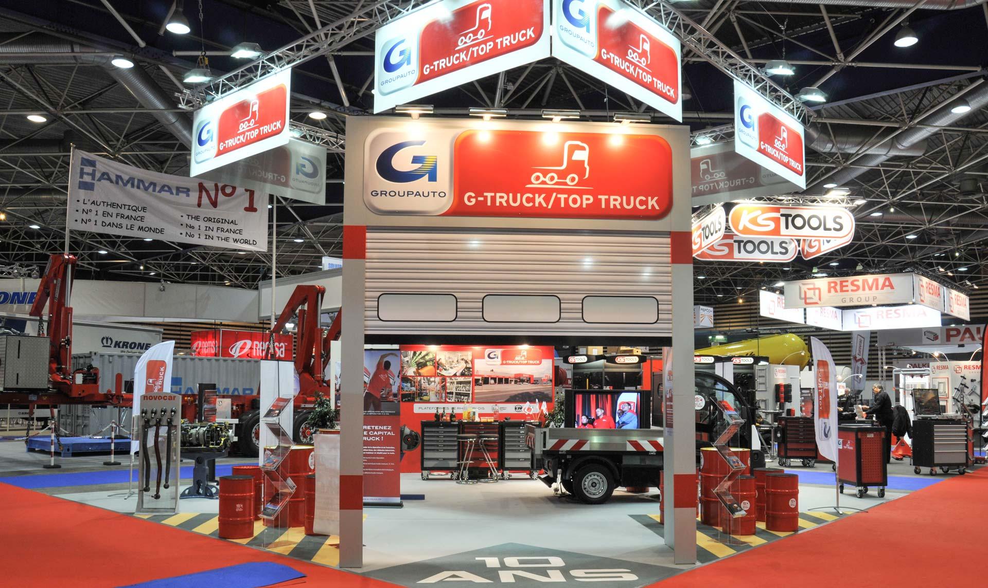 Création du stand G-truck 81 m2