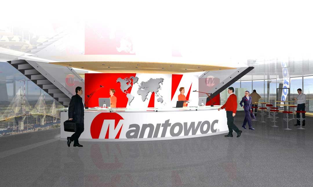 Conception 3D d'un stand outdoor pour Manitowoc