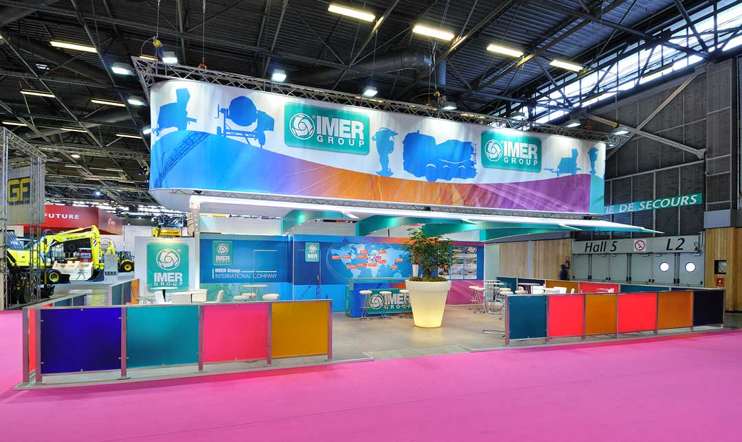 Création stand Imer 1500m2
