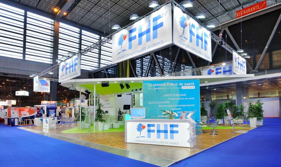 Création du stand de la fédération hospitalière de France 2012