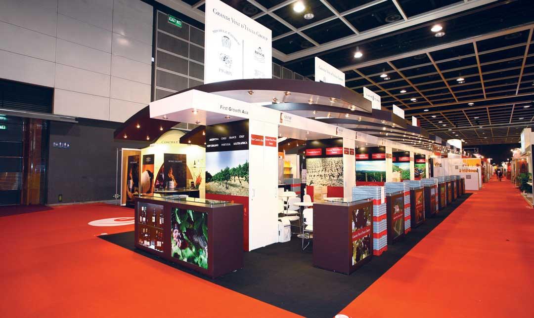 Réalisation d'un stand collectif de vignoble spour le salon Vinexpo Asia