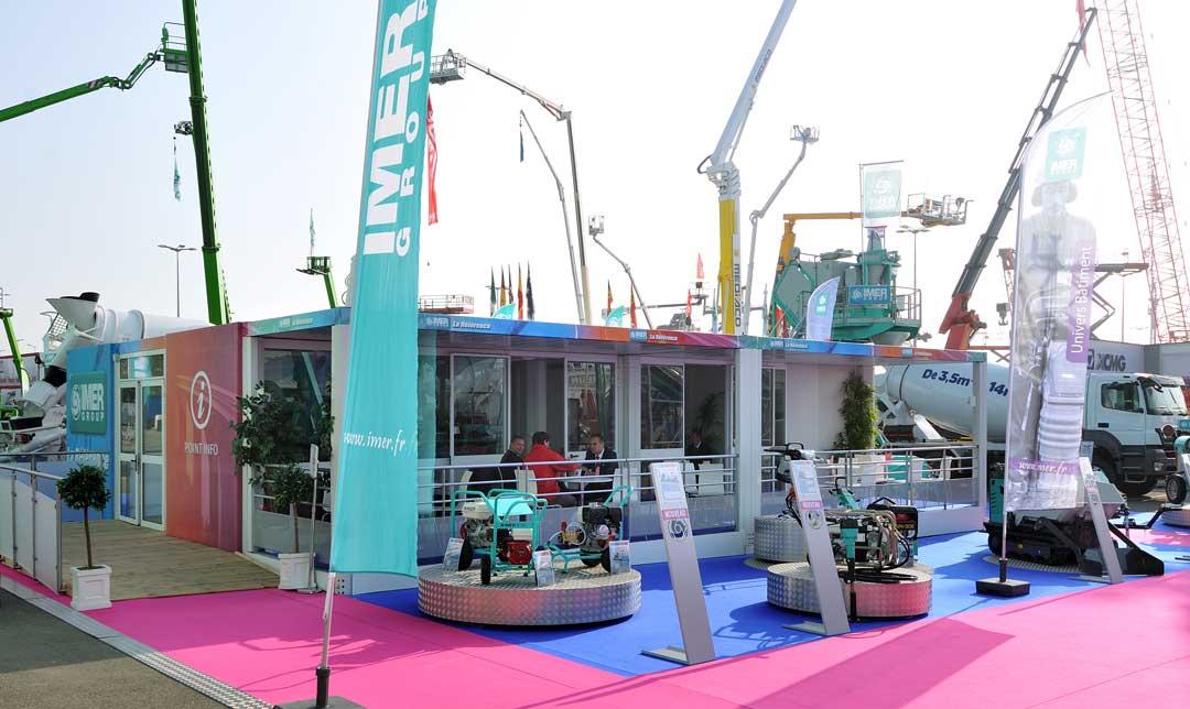 Création d'un stand extérieur pour Imer