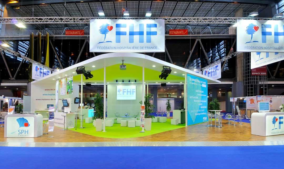 Conception du stand de la fédération hospitalière de France 2012