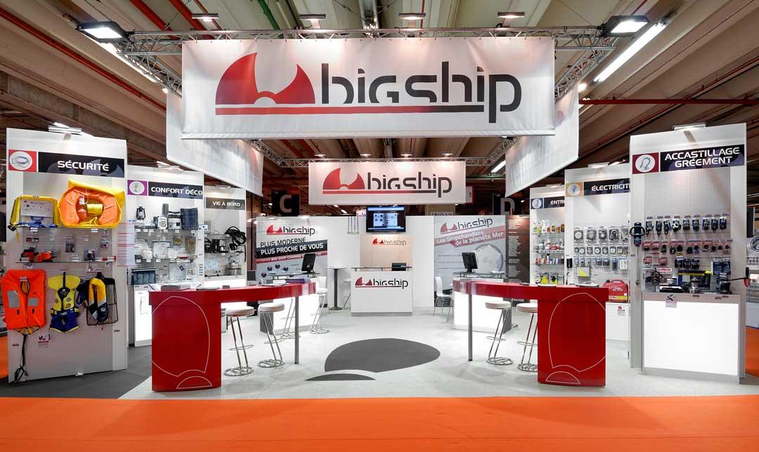 Conception du stand Big Ship pour le salon nautique de Paris