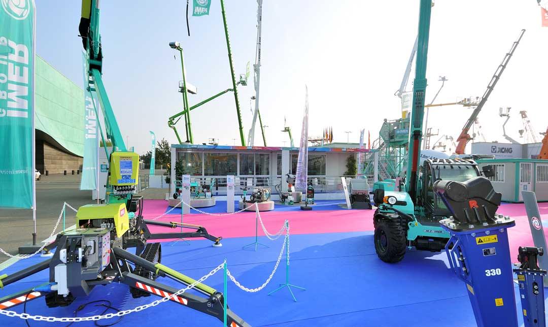 Conception et réalisation d'un stand outdoor pour Imer