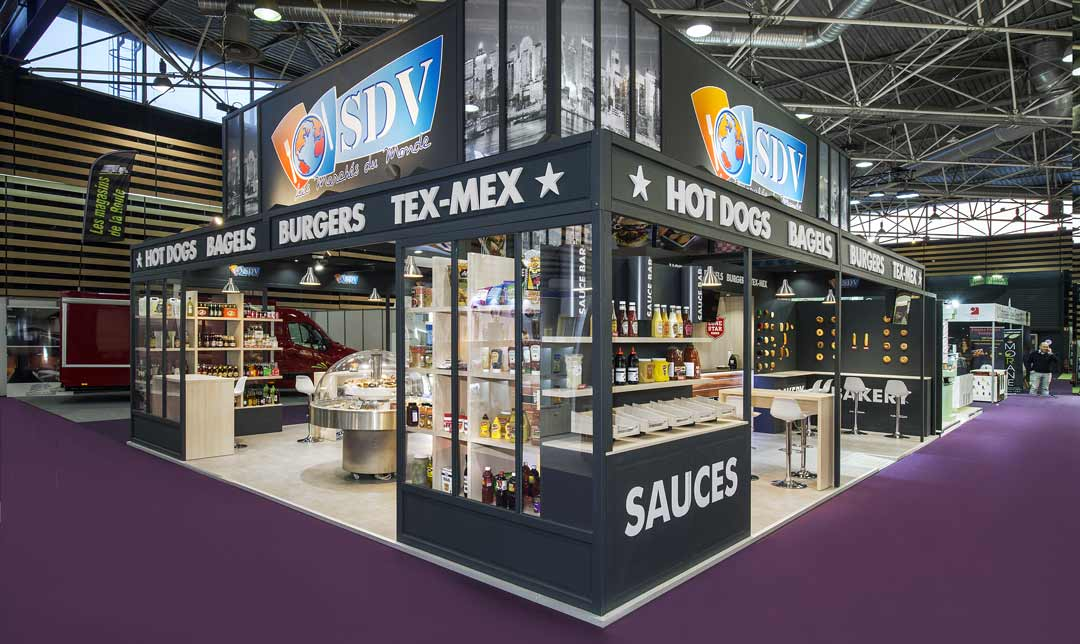 Conception de stand pour salon clé en main SDV