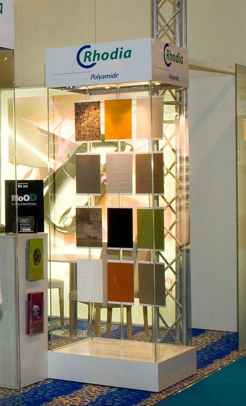 Présentoir vitrine textile