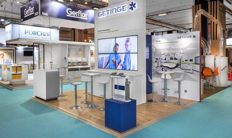 Conception de stand Santé - Getinge Salon Santexpo