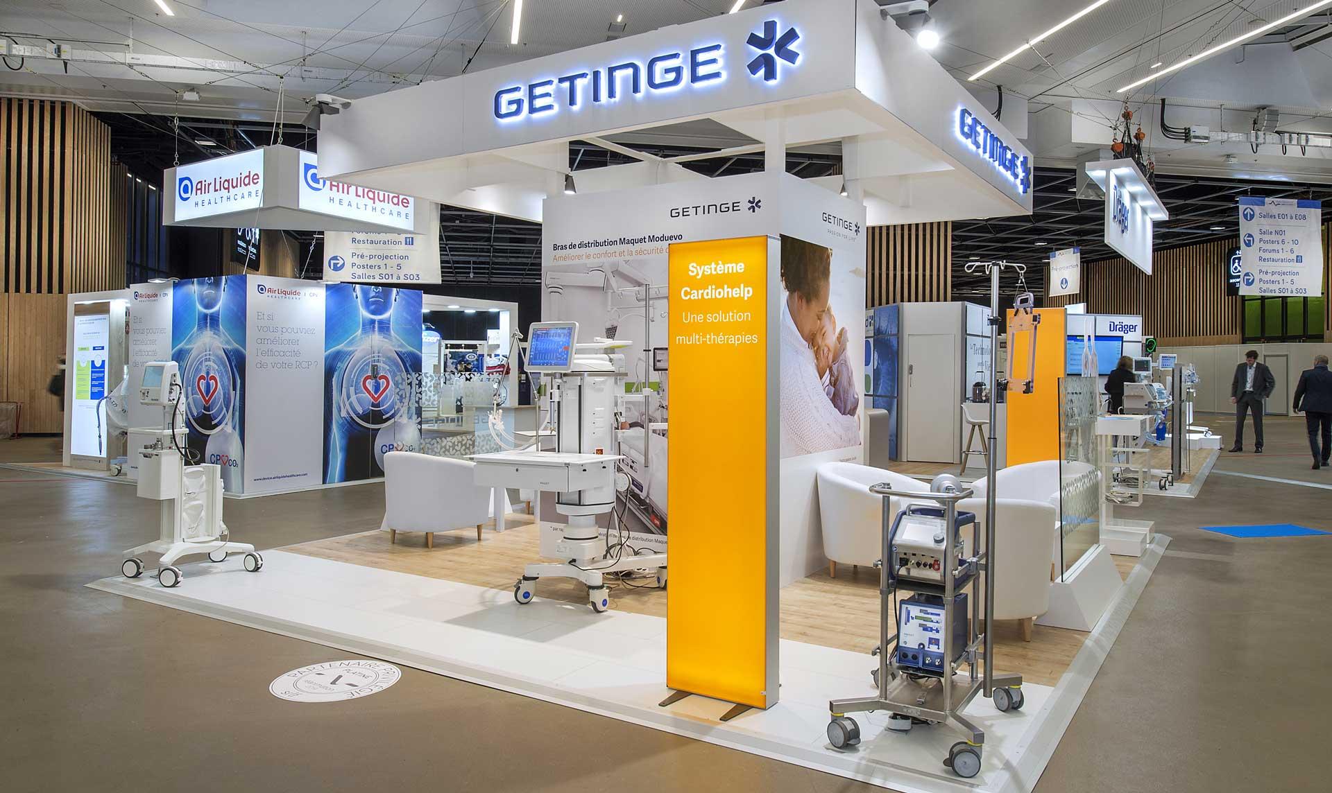 Concepteur de stand santé Getinge pour le SRLF 2019