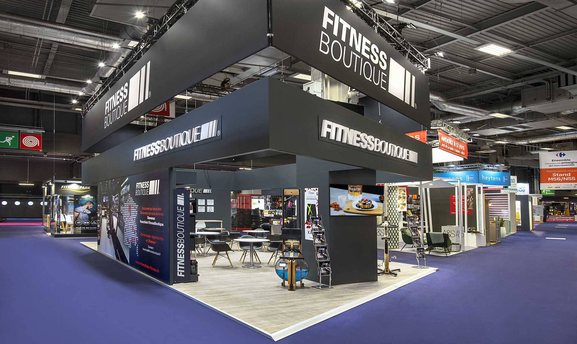 Conception de stand sport - Fitness Boutique