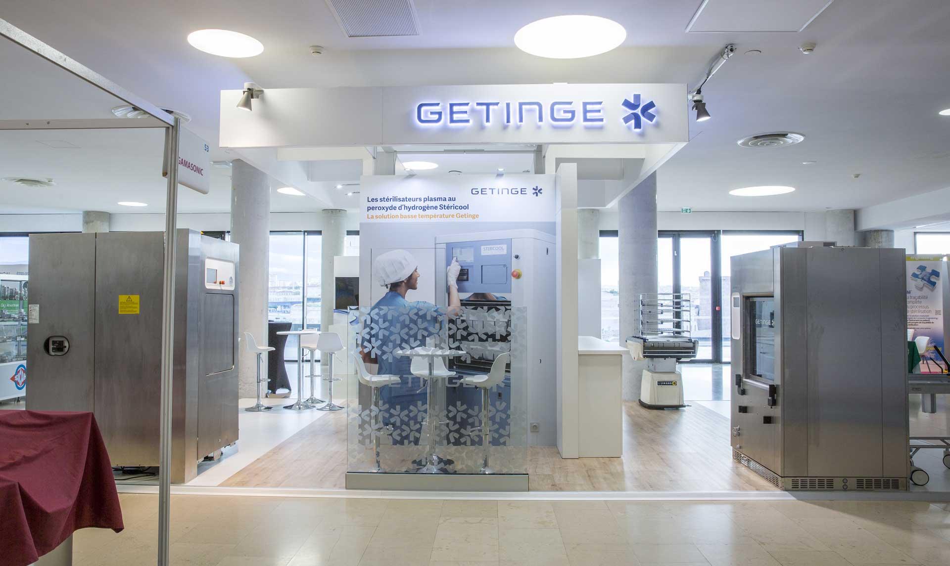 Stand clé en main - Congrès société française de stérilisation Getinge