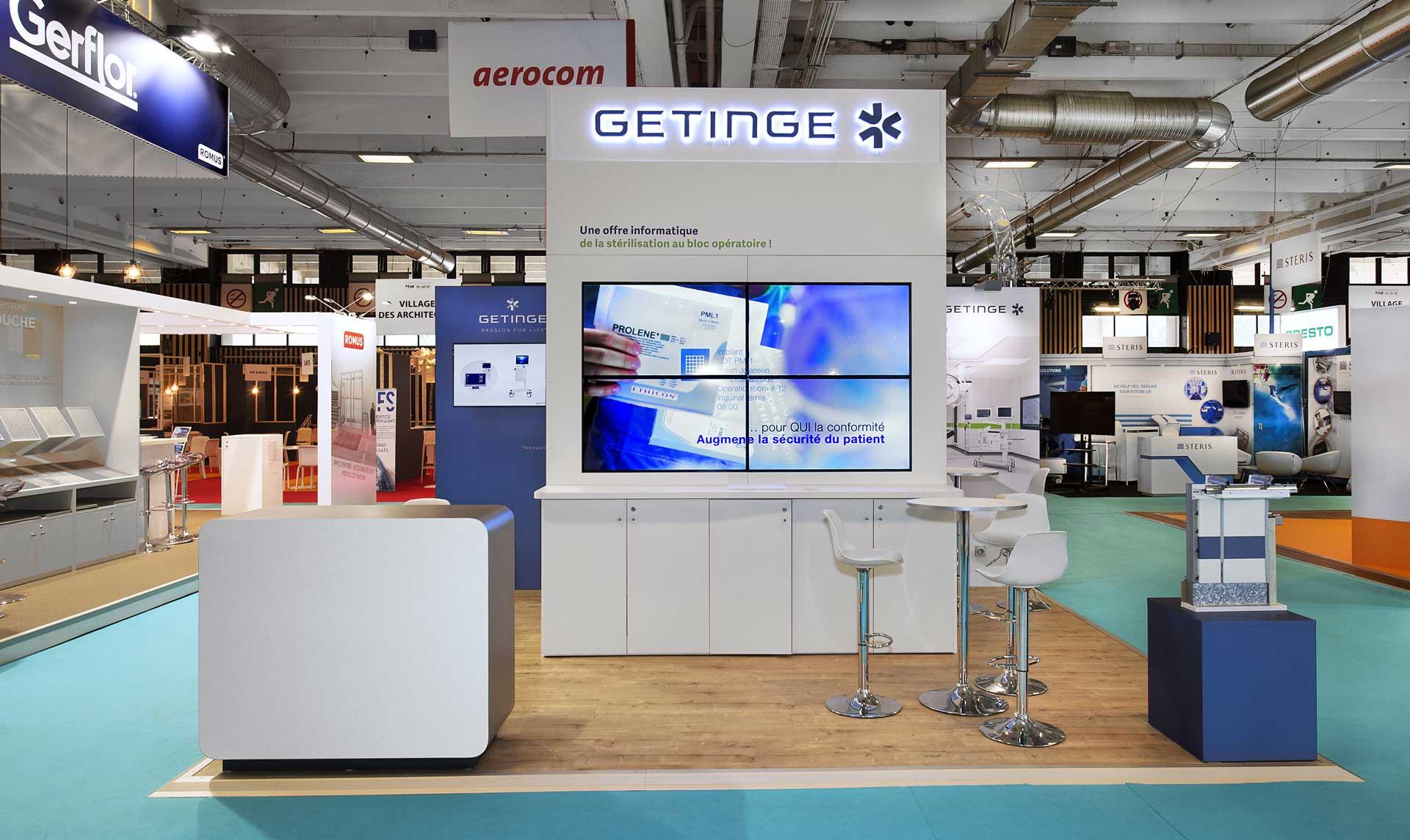 Création de stand Santé - Getinge Salon Santexpo