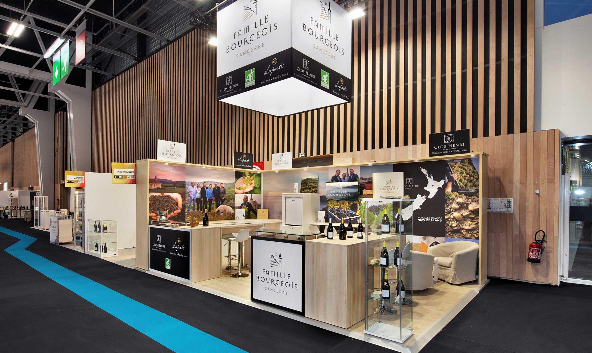conception stand vignoble Henry Bourgeois / Salon Vinexpo
