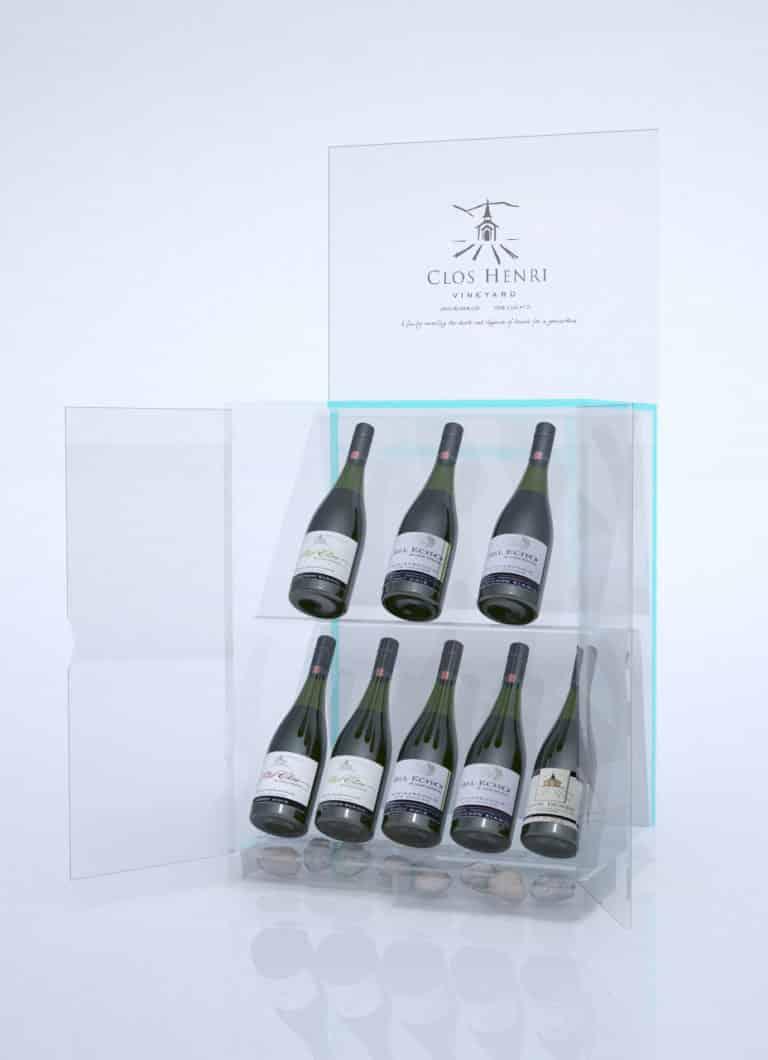 Projet PLV présentation gamme vins