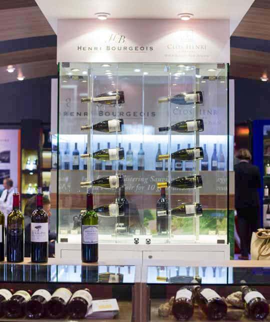 Présentoirs bouteilles vins
