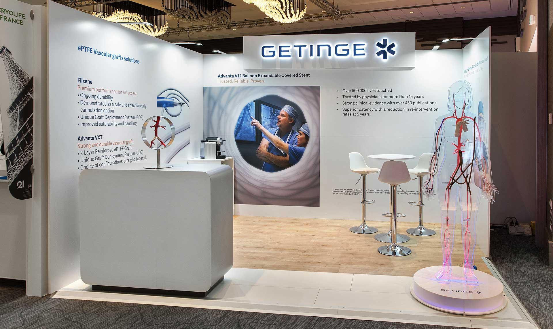 Concepteur Stand médical Getinge et Bard - Salon CACVS 2020