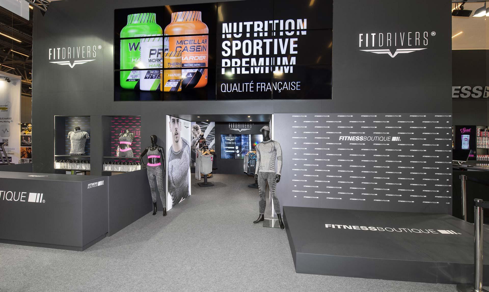 Conception du stand Fitness Boutique pour le salon Body Fitness