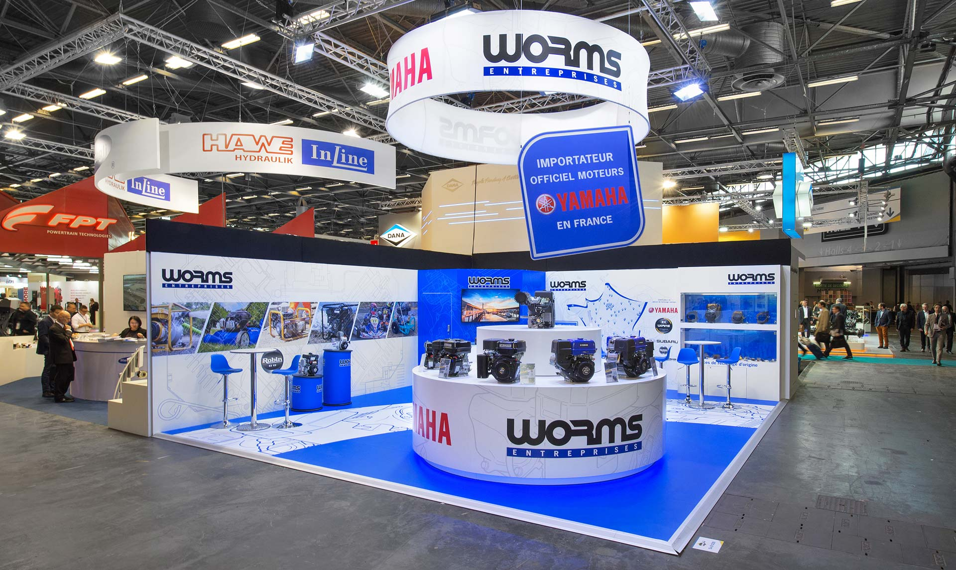 Conception du stand Worms - salon intermat 2018