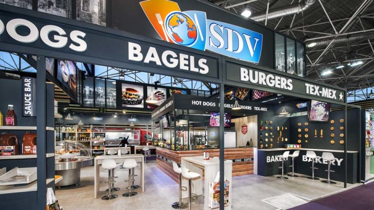 Stand SDV : ambiance loft new-yorkais / tendance fast food chic