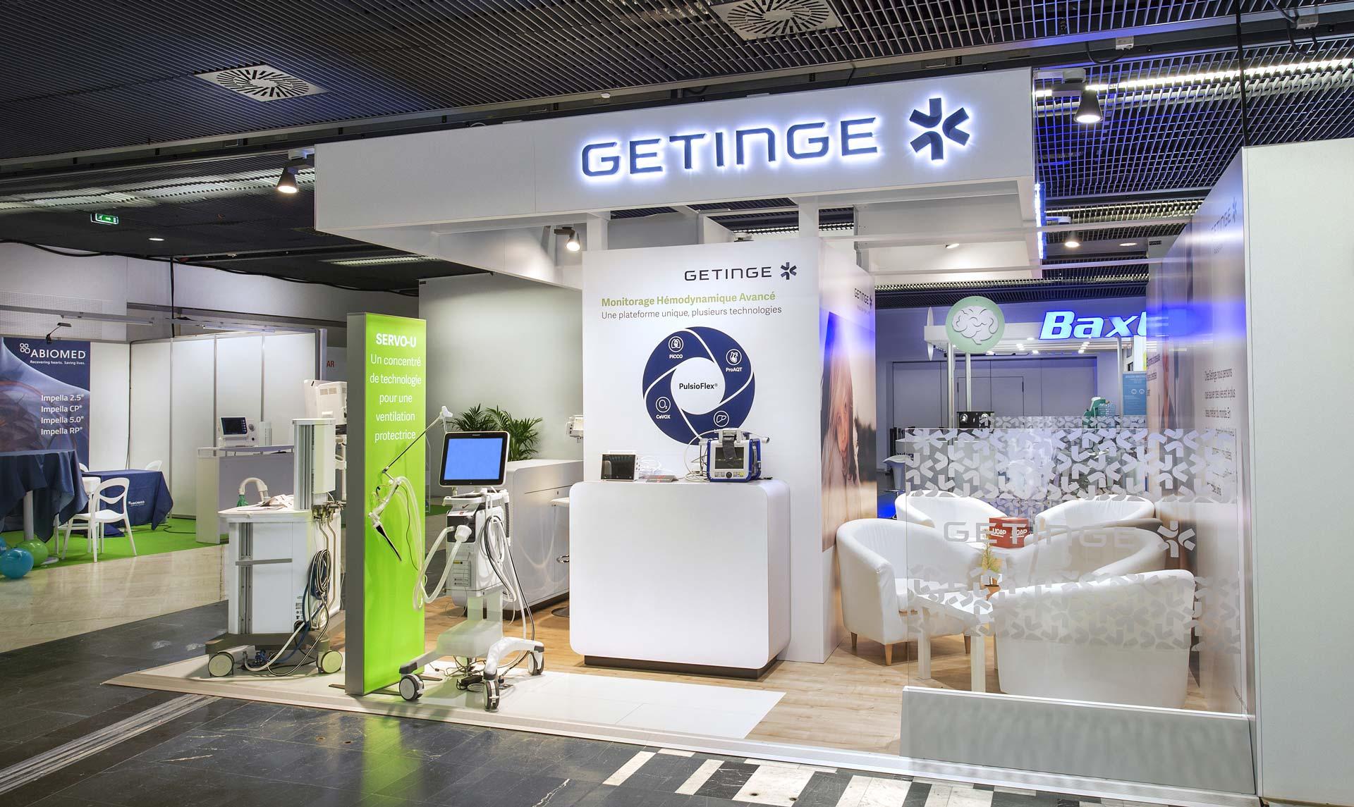 Création stand Getinge pour le salon sfar 2018