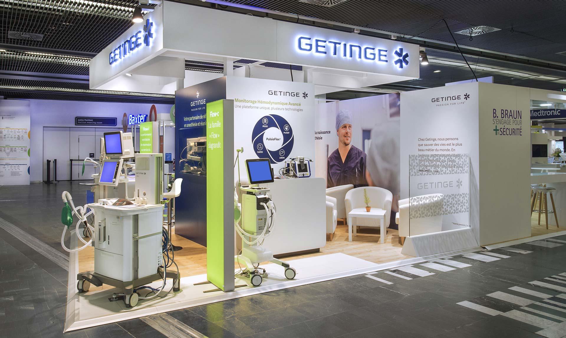 Design stand Getinge pour le salon sfar 2018