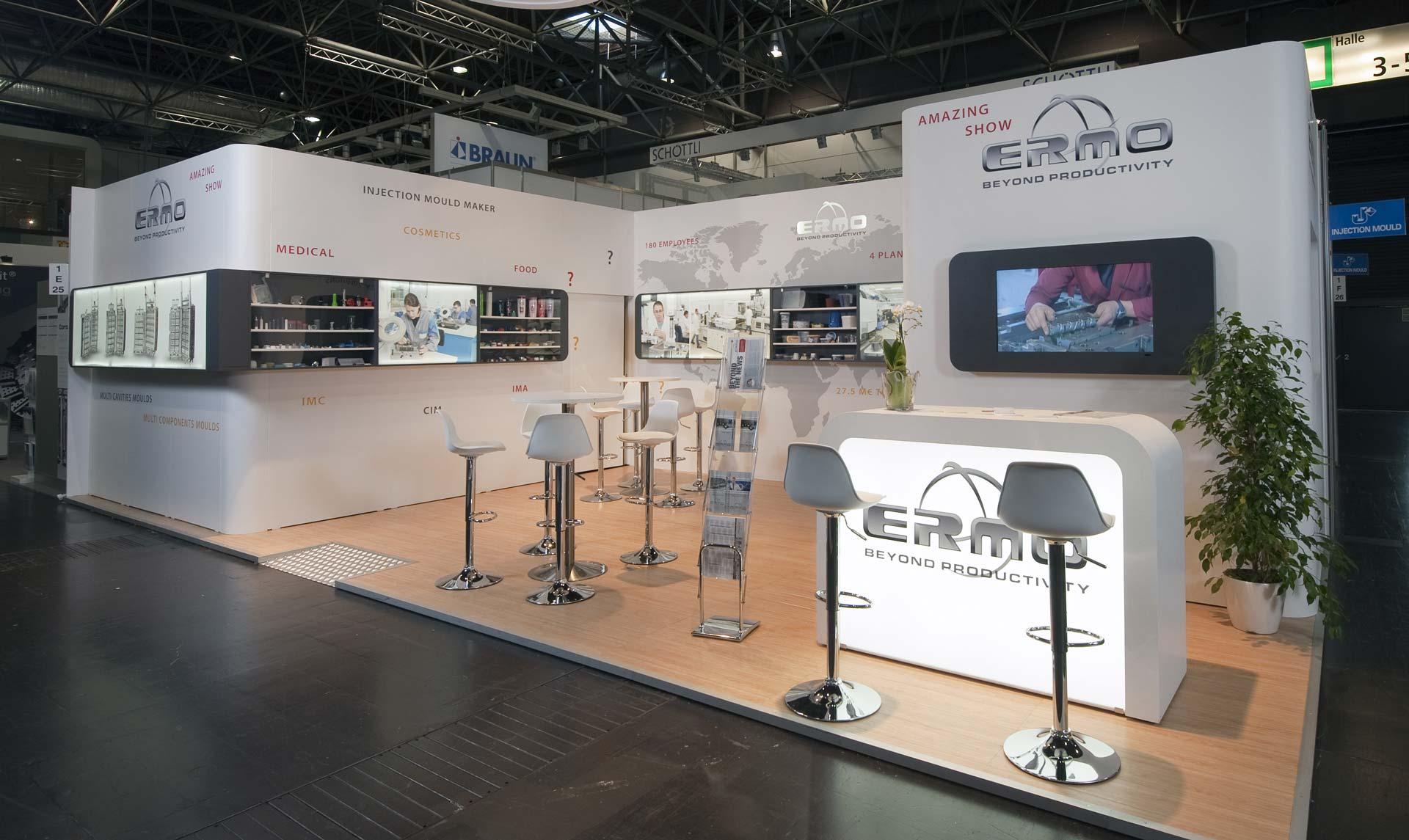 fabrication du stand Ermo pour le salon k 2013