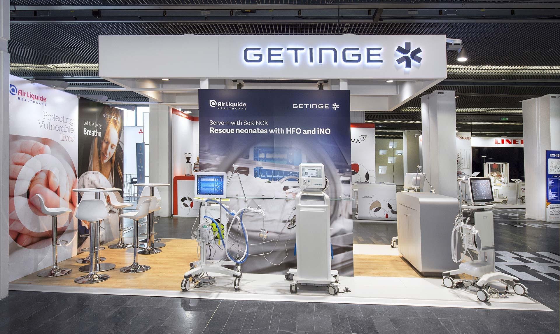 Fabrication du stand Getinge pour le salon EAPS 2018