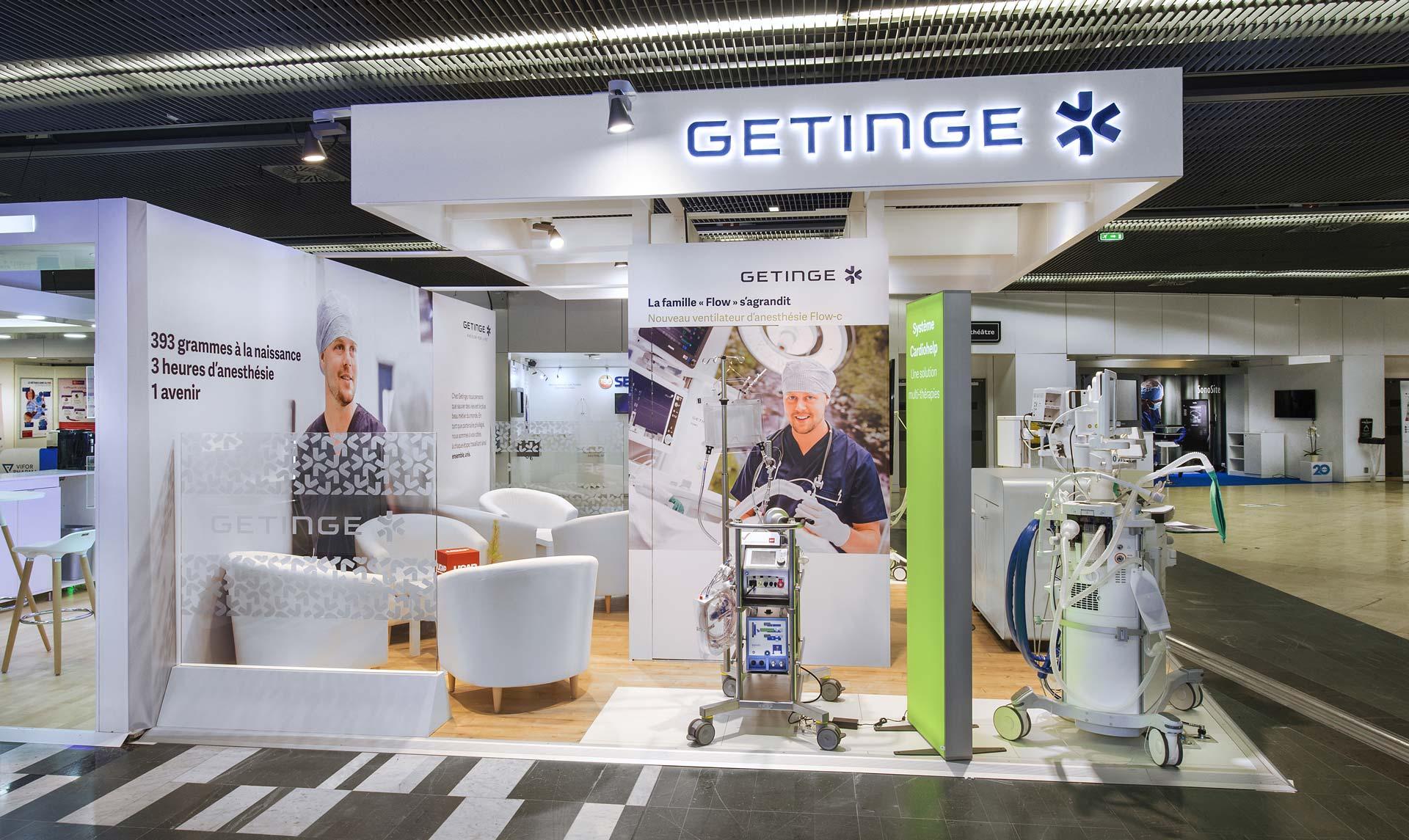 fabrication stand Getinge pour le salon sfar 2018