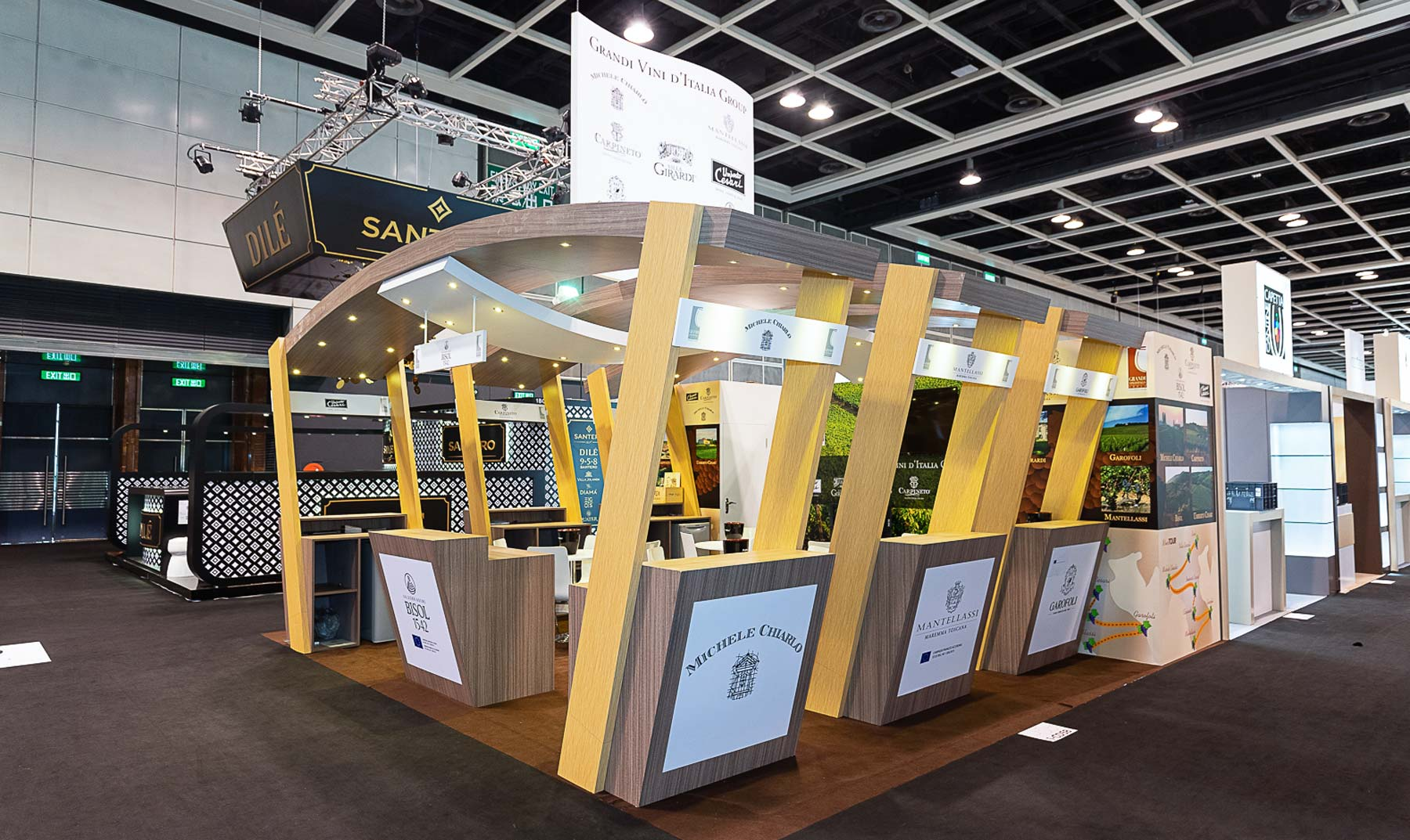 Fabrication stand grandi vini vinexpo hong kong 2018